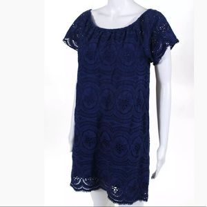 Joie lace dress in blue size Small